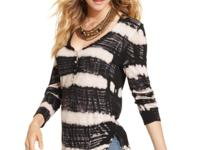 Striped tie dye ups the edge on this Free People henley