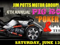 COME TEST DRIVE A CAN-AM SPYDER! FREE PIG ROAST AND