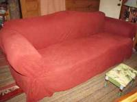 Free Ralph Lauren Camel Back Sofa with micro fiber