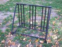 Free standing metal bike rack. This is in great