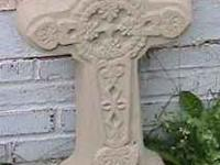 free standing concrete garden Decorations cross 24 1/2