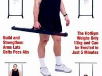 """Hot Gym"" Free standing portable pull up bar. Assembles"