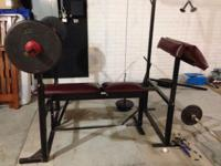. Dumbbell collection available for sale $325. Features