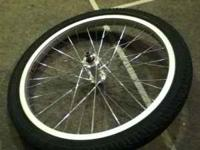 just a silver 20 inch free agent rim with a tube+ a