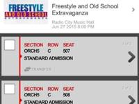 Hi, I'm selling 2 tickets to the Freestyle & Old School