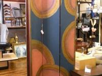 PRIZES ITEM # 16818.  Great hand painted screen from