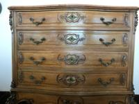Circa 1920s, Louis XV-style 4-drawer highboy