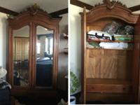 French armoire/wardrobe (free-standing closet) from