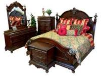 THE SET WOULD INCLUDE A QUEEN BED DRESSER/MIRROR DRAW