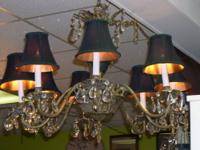 Beautiful restored vintage French Empire 8 light