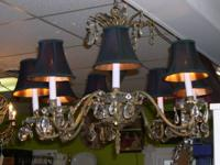 Stunning recovered vintage French Empire 8 light
