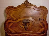 Charming Louis XV bed. Full/Queen. Ornate, sculpted
