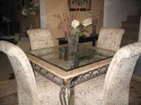 Gorgeous French Marble Dining Room Set.I originally
