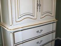 Off White French Provencal Furniture with Gold Accents