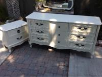 Lovely French Provincial shabby chic 9 drawer dresser