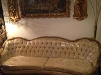 THIS IS A BEAUTIFUL HUGE SOFA NEEDS LITTLE TLC ,THE