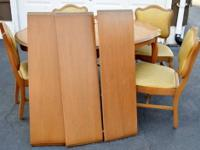 this is a vintage set in good condition solid wood and