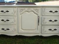 FRENCH PROVINCIAL,DRESSER SHABBY CHIC 9 DRAWERS COTTAGE