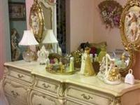 Exquisite antique white queen french provincial bedroom