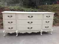 This is a beautiful 9 drawer French Provincial shabby