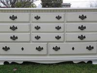 FRENCH PROVINCIAL,DRESSER SHABBY CHIC 8 DRAWERS COTTAGE
