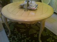 up for sale is this French shabby dining room table,