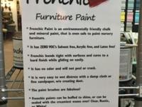 Frenchic Furniture Paint! Distress with a damp cloth or