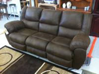 BRAND NEW ASHLEY RECLINING COUCH AND SEAT WITH CONSOLE