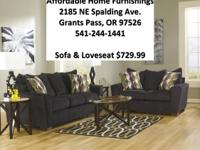 New Black Couch Set New With Warranty  Inexpensive