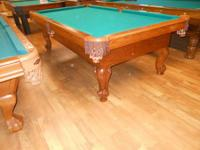 NEW SLATE POOL TABLE. MADE IN THE USA. THE FORTESS BY