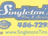 Now open is Singletons Tire & Solution, right here 6