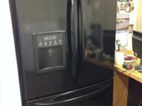 KENMORE ELITE BLACK SHINY COLOUR REFRIGERATOR.  ** ICE