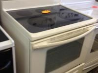 NICE GLASS TOP FRIGEDAIRE BEIGE SUPER NICE CONDITION