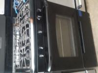 $299 FRIGIDAIRE BLACK 5 BURNER 30 WIDE GAS STOVE BAKE