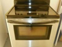 Frigidaire Black/Stainless Glass Top Stove, Self Clean