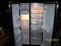 I am offering a good side by side refrigerator.It is