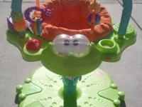 Frog stationary activity bouncer- Fun, colorful, safe