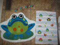 I have a Frog bath mat, a frog hand towel and 12 frog