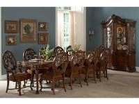 A traditional dining room requires a grandiose