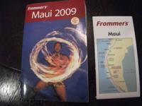 Like new condition travel guide book with map.  This