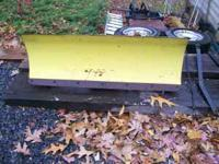 "Front Blade for John Deere Mower, 42"" angle adjustable"