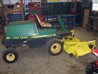 "2005 JD F1145 mower, 72"" deck, 28hp Yanmar diesel with"