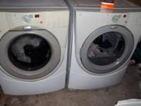 Very nice frontload whirlpool duet washer and electric
