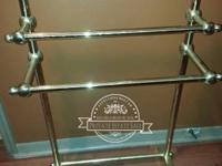 Frontgate Brass Three Tier Bath Towel Rack Originally