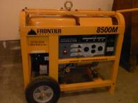 I am selling this Frontier Industrial 8500M generator.