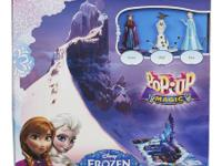 Pop-Up Magic Frozen game has a gameboard with a pop-up