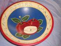 Fruit bowl decor, wooden for sale. Very nice! asking