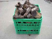 25 pounds of apple and peach wood, (1 cubic foot) dried