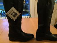 Frye boots, black, women's size 8.5 M. NEW never worn,