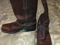 I have a pair of Frye Double Harness boots that are in